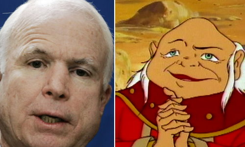 Is it just me or does John McCain look like the old Dungeonmaster?