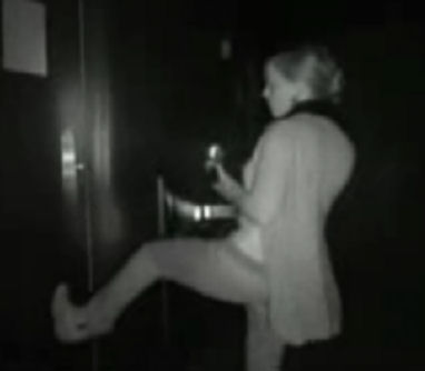 Amy kicks open door