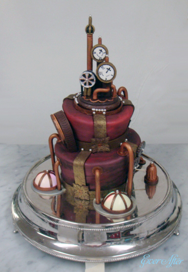 punk wedding cakes steampunk wedding cake gnostalgia 18846