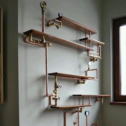 Steampunk Shelves Gnostalgia