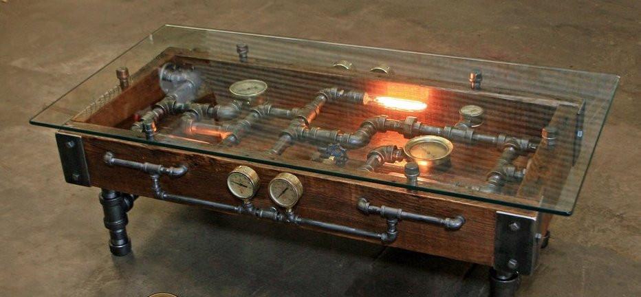 Beautiful Steampunk Coffee Table